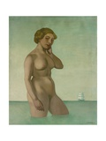 Nude with a Frigate  1916