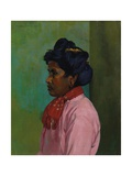 Black Woman with Pink Blouse  1910