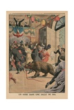 A Bear in a Ballroom  Back Cover Illustration from 'Le Petit Journal'  Supplement Illustre  21st…