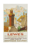 Lewes  Poster Advertising Southern Railway