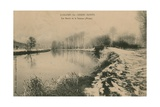 Longpre-Les-Corps-Saints - the Banks of the Somme in Winter Postcard Sent in 1913