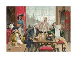 Cafe in Paris During the Time of the French Revolution