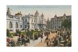 Terrace of the Cafe de Paris  Place Du Casino  Monte Carlo Postcard Sent in 1913
