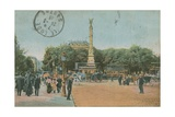 Paris - Pont Au Change and Place Du Chatelet Postcard Sent in 1913
