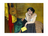 Woman and Guitar; Femme et Guitare  1913