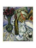Teapot  Bottle and Red Flowers; Teekanne  Flasche Und Rote Blumen  1912