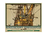 HMS Victory  Portsmouth  Poster Advertising Southern Electric Railways