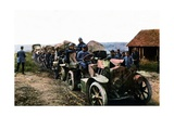 French Soldiers and Vehicles of the Mobile Air Defense During the Battle of Verdun  September 1916
