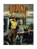 Automobile Repair  Front Cover of the 'Dupont Magazine'  January 1919