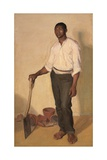 Portrait of Negro Gardener  c1905