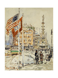 Flags  Columbus Circle  1918