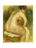 Nude Woman Bathing; Femme Nue Assise  1910