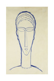 Study of a Head for a Sculpture; Etude de Tete Pour Une Sculpture  c1911