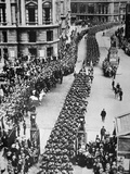 American Troops of WWI Parade Through London on USA Entering the War in Europe  15th August 1917