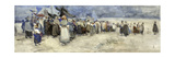 The Beach  Berck-Sur-Mer  c1900