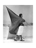 Woman with Flag  Mexico City  1928