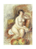 Nude Woman Sitting with Apples; Femme Nue Assise et Pommes  c1908