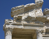 Decorative Entablature on the Western Pediment of the Tetrapylon  Aphrodisias  Turkey  2007