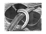 Mexican Revolution: Guitar  Sickle and Ammunition Belt  Mexico City  1927
