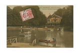 The Lake and the Chalet Robinson  Bois de La Cambre  Brussels Postcard Sent in 1913
