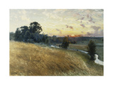 An Extensive Landscape at Sunset  1902