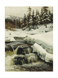 A Winter Landscape with a Mountain Torrent  1916