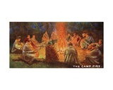 Scouts Round a Camp Fire  1929