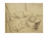 Still-Life with Fruit Dish; Nature Morte Au Compotier  1919