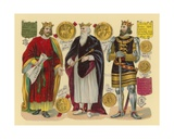 Victorian Scrap: King John  King Edward I  King Henry III