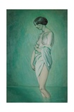 Bather in Profile  Effect of Green and Pink  1918