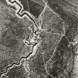 Over the German Lines  Showing Deep Trenches  Mine Craters and Shell-Pitted Ground