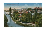 Sarajevo - View to the North of the City Postcard Sent in 1913