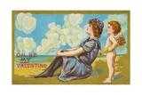 Oh Be My Valentine Postcard  1911
