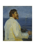 Portrait of the Artist Peder Severin Kroyer  Half-Length  1907