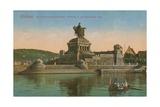 Monument to Kaiser Wilhelm I  Koblenz Postcard Sent in 1913