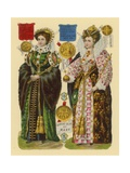 Victorian Scrap: Queen Mary I  Queen Elizabeth I
