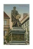 Gutenberg Monument  Strasbourg Postcard Sent in 1913