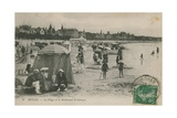 Postcard of the Beach and Boulevard St Georges  Royan  France Sent in 1913