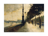 The Embankment  London; Der Uferdamm  London  1926