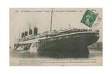 Ocean Liner 'France'  Le Havre Postcard Sent in 1913