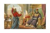 King David Being Rebuked by Nathan