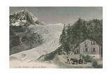 Chamonix - Bossons Glacier Postcard Sent in 1913