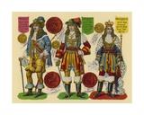 Victorian Scrap: King Charles II  King James II  King William III