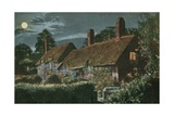 Ann Hathaway's Cottage Postcard Sent in 1913