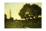 A Wooded Landscape with a Stream  1903