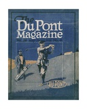 Golfing  Front Cover of the 'Dupont Magazine'  May-June 1921