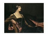 A Lady in Black: Portrait of Jean Ainsworth  Viscountess Massereene and Ferrard  1917