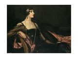 A Lady in Black: Portrait of Jean Ainsworth  Viscountess Massereene and Ferrard  1917