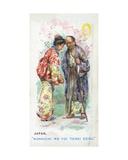 Customary Greeting in Japan  1907