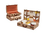 Two Suitcases and a Picnic Hamper  Loewe  Mid-20th Century